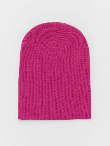 MSTRDS Beanie Basic Flap in pink