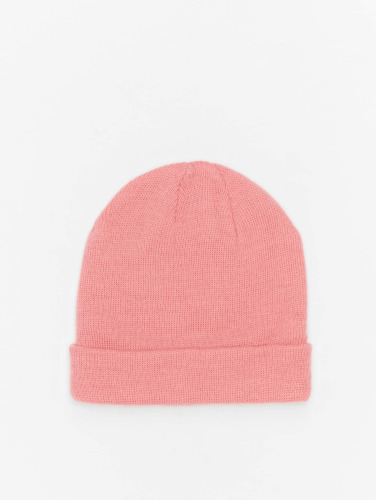 MSTRDS Beanie Short Pastel Cuff Knit in pink