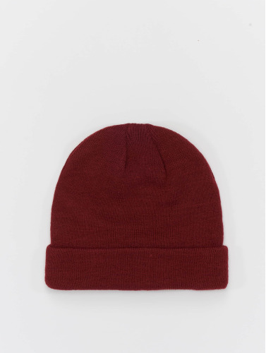 MSTRDS Beanie Short Cuff Knit in rot