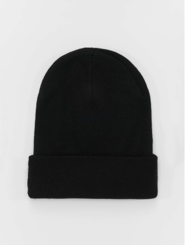 MSTRDS Beanie Basic Flap Long in schwarz