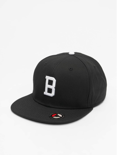 MSTRDS Snapback Cap B Letter in schwarz