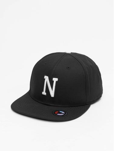MSTRDS Snapback Cap N Letter in schwarz