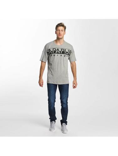 Napapijri Herren T-Shirt Saumur in grau