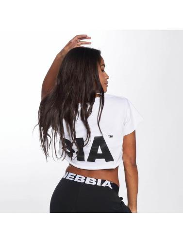 Nebbia Mujeres Camiseta Crop in blanco