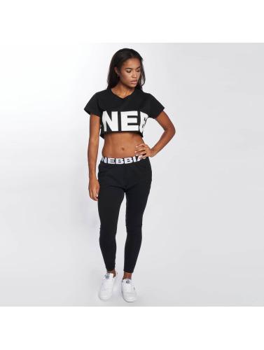 Nebbia Mujeres Camiseta Crop in negro
