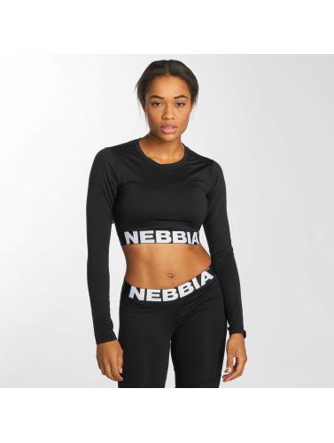 Nebbia Mujeres Top Crop in negro