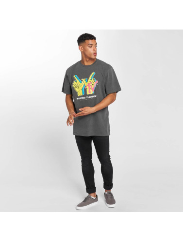 NEFF Hombres Camiseta Whatever TV Pigment in gris