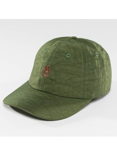 NEFF Snapback Cap Step Dad in olive