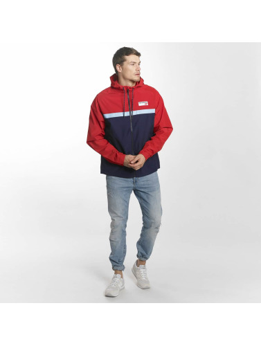 New Balance Hombres Chaqueta de entretiempo MJ73557 Athletics in rojo