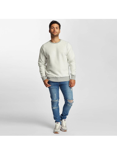 New Balance Hombres Jersey Essentials Crew Reverse in gris