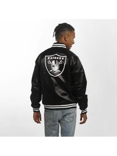 New Era Herren Bomberjacke F O R Oakland Raiders Sateen in schwarz