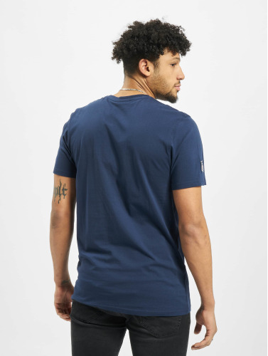 New Era Hombres Camiseta Team Logo Seattle Seahawks in azul
