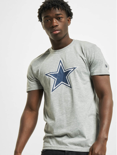 New Era Hombres Camiseta Team Logo Dallas Cowboys in gris