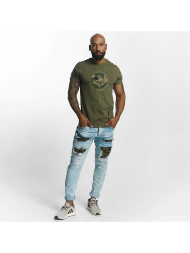 New Era Hombres Camiseta Pittsburgh Steelers in oliva