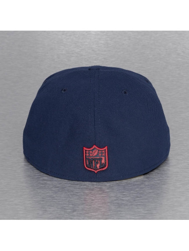 New Era Fitted Cap On Field 15 Sideline New England Patriots in blau