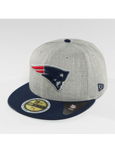 New Era Fitted Cap Reflective Heather New England Patriots in grau