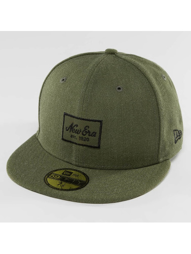 New Era Fitted Cap Heather Script 59Fifty in olive