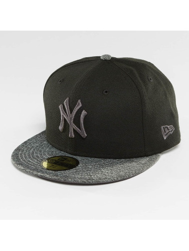 New Era Fitted Cap Grey Collection NY Yankees 59Fifty in schwarz