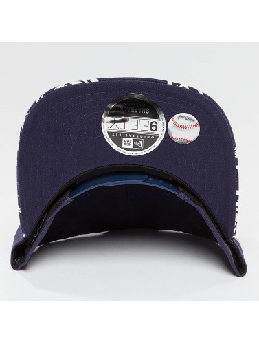 New Era Snapback Cap Sandwash Visor Print NY Yankees in blau