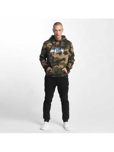 New Era Hombres Sudadera Woodland Seattle Seahawks in camuflaje