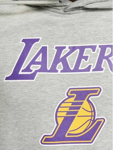 New Era Hombres Sudadera Team Logo LA Lakers Hoody in gris