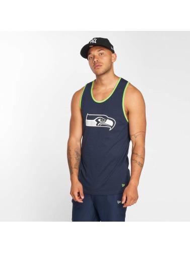 New Era Hombres Tank Tops Dryera Seattle Seahawks in azul