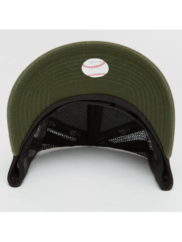 New Era Trucker Cap Seas Heather NY Yankees in olive