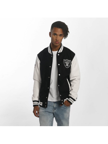 New Era Herren Übergangsjacke Team Apparel Varsity Oakland Raiders in schwarz