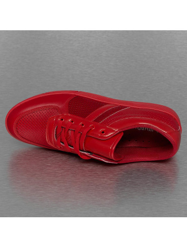 New York Style Herren Sneaker Perforated Pattern in rot