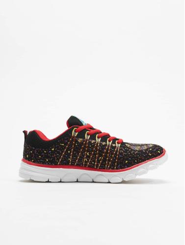 New York Style Damen Sneaker Sport in schwarz