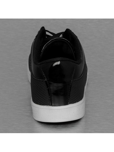 New York Style Herren Sneaker Perforated Pattern in schwarz