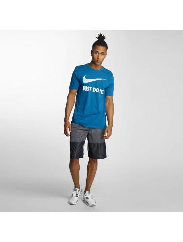 Nike Hombres Camiseta New JDI Swoosh in azul
