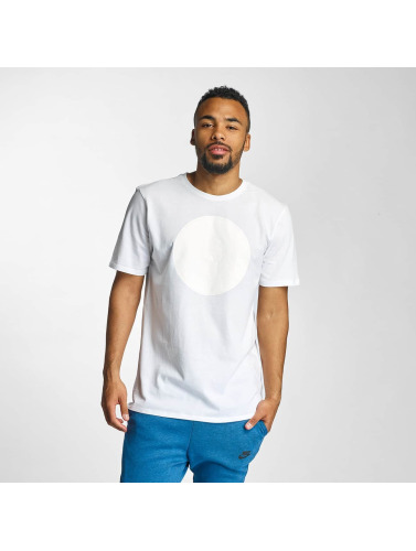 Nike Hombres Camiseta NSW Huarache Logo in blanco
