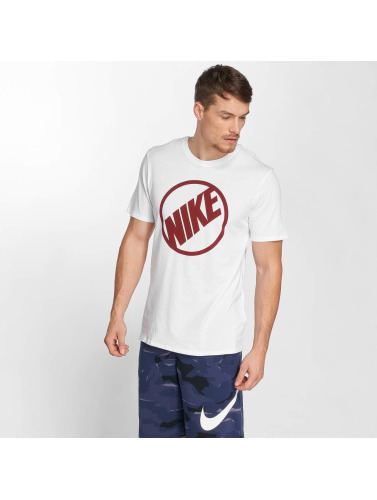 Nike Hombres Camiseta Sportswear Blue in blanco