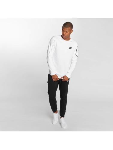 Langermet Nike Menn Skjorte I Hvit Sports Fleece Av15 utløp beste salg offisielt Prisene for salg 12xlwB78