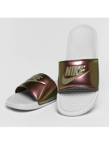 Nike Mujeres Chanclas / Sandalias Just Do It in blanco