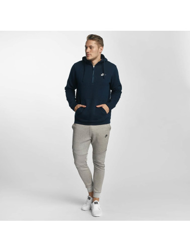 Nike Herren Hoody NSW HZ Fleece Club in blau