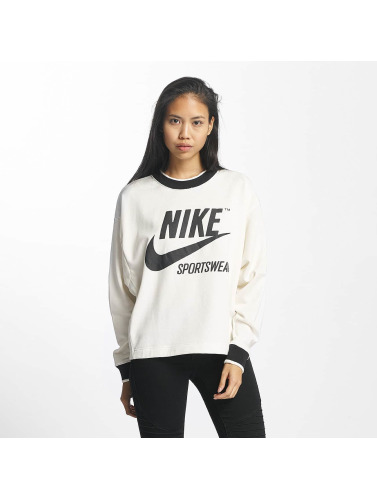 Nike Mujeres Jersey NSW Crew Archive in blanco