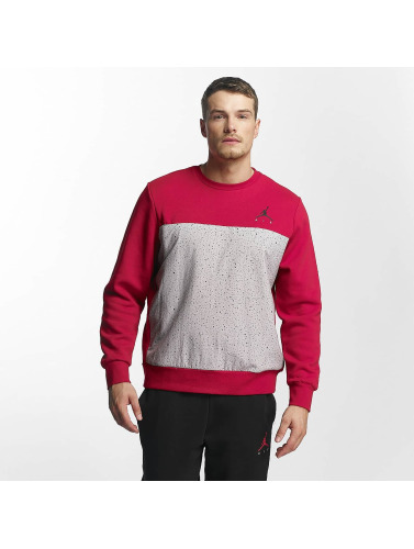 Nike Hombres Jersey Flight Fleece Cement in rojo