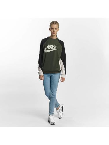 Amazon Günstig Online Billig Kaufen Authentisch Nike Damen Pullover NSW Crew in khaki py9vO