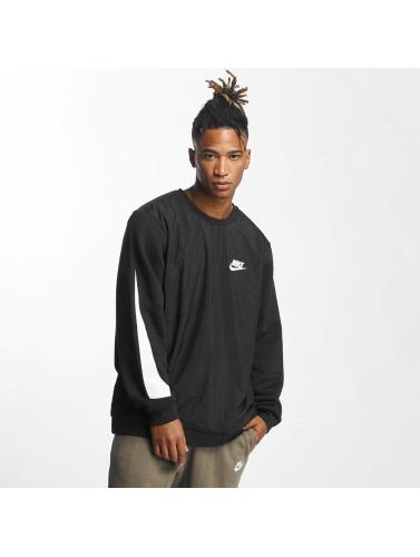 Nike Herren Pullover Crew Fleece Hybrid in schwarz