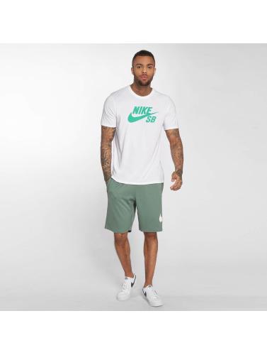 Nike SB Hombres Camiseta SB Logo in blanco