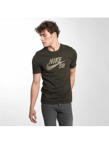 Nike SB Hombres Camiseta Logo in oliva