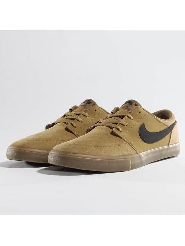 Nike SB Herren Sneaker Solarsoft Portmore ll Skateboarding in braun