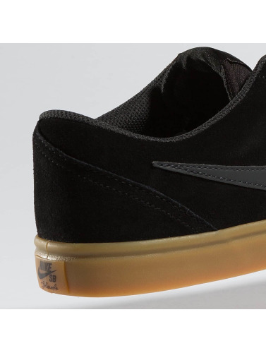 Nike SB Herren Sneaker Check Solarsoft Skateboarding in schwarz