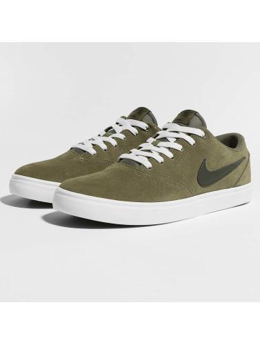 Nike SB Hombres Zapatillas de deporte SB Check Solarsoft Skateboarding in oliva