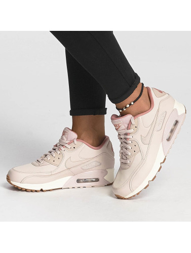 Nike Damen Sneaker Air Max 90 Leather in rot