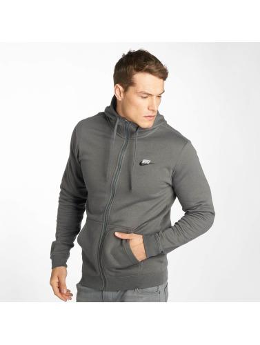 Nike Hombres Sudaderas con cremallera Sportswear in gris