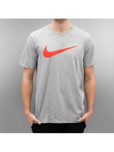 Nike Herren T-Shirt Dry Swoosh HTR in grau