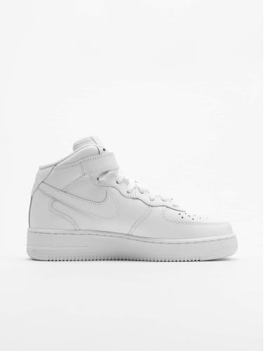 Nike Hombres Zapatillas de deporte Air Force 1 Mid 07 Basketball Shoes in blanco